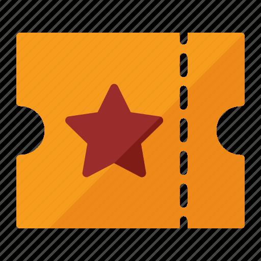 check, star, ticket icon