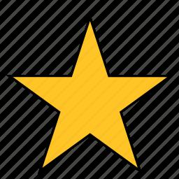 shape, star, yellow icon