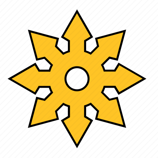 boot, far west, shape, spike, spur, star, yellow icon