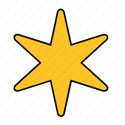 shape, star, yellow icon