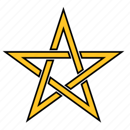 abstract, shape, star, yellow icon