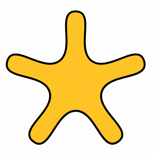 asterisk, shape, spike, spur, star, yellow icon