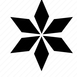 abstract, flower, ninja, star, throwing icon