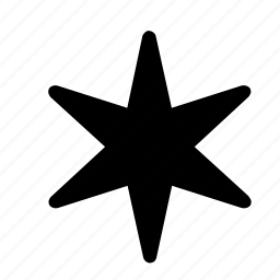 asterisk, pointed, points, six, star, star of six points icon