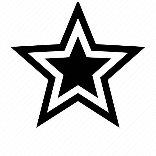 five pointed, five points, star, star of five points, stars icon