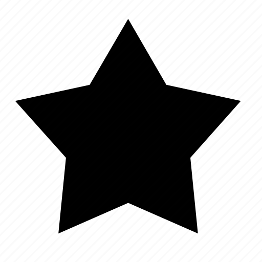 favorite, favourite, five, pointed, points, star, star of five points icon