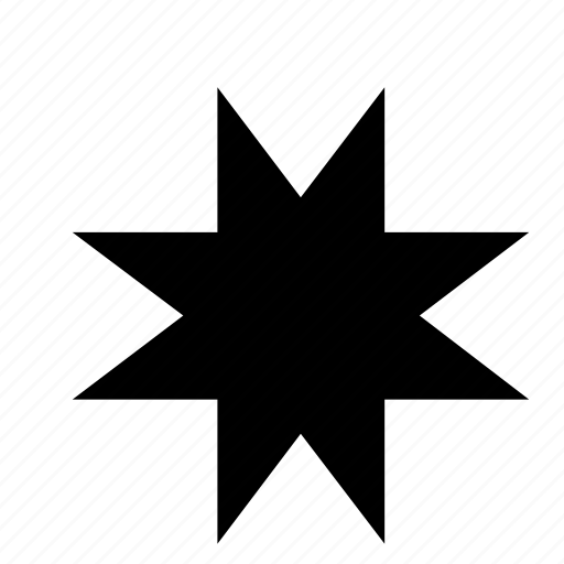 abstract, asterisk, shape, star icon