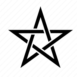 abstract, five pointed, five points, line, star icon