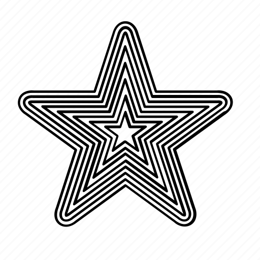 five pointed, five points, lines, star, stars, stripes icon