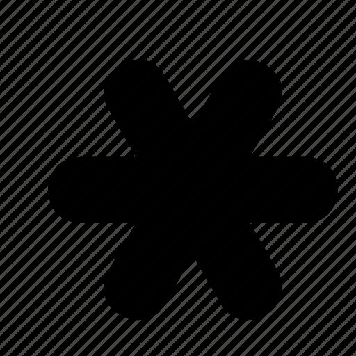 asterisk, snow, snowflake, star icon