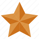 award, bronze, star icon