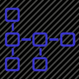 algorithm, hierarchy, interconnection, project, prototype, scheme, structure icon