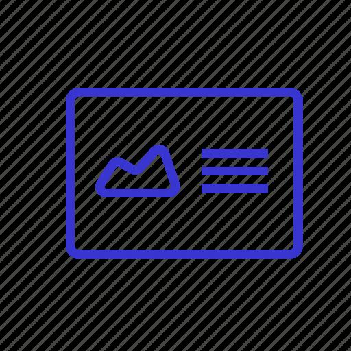 card, letter, message, portfolio, presentation, showing, slideshow icon
