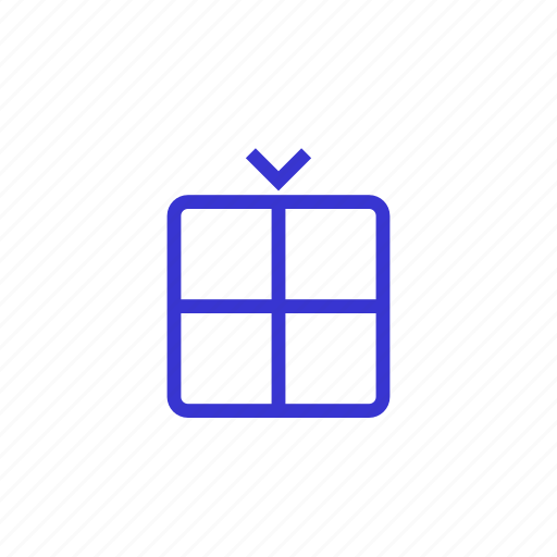box, gift, package, presentation, product, production icon