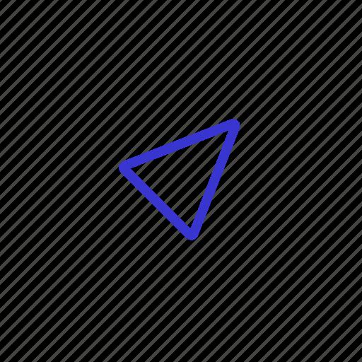 arrow, cursor, direction, location, navigation icon