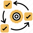 process, agile, methodology, development, work icon
