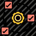 methodology, process, agile, development, work icon