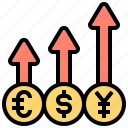 business, currency, exchange, profits, rate icon