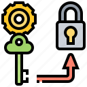 business, growth, hacking, key, strategy icon