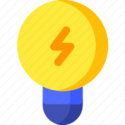 bulb, electric, electricity, energy, idea, lamp, power icon
