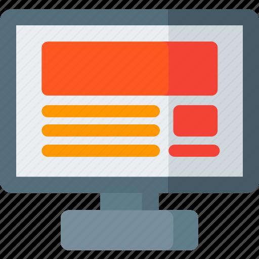 design, interface, mpnitor, seo, ui, web, website icon
