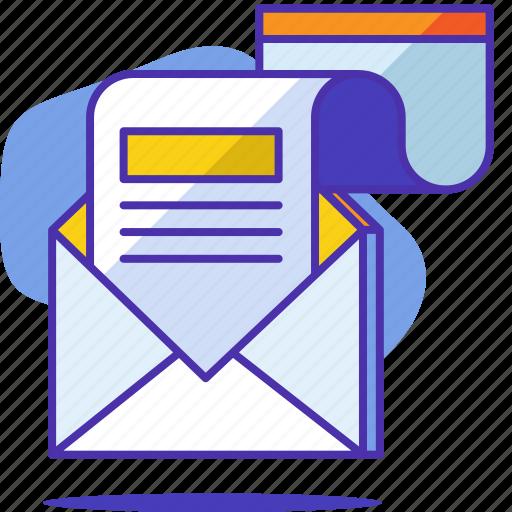 communication, letter, mail, marketing, newsletter, seo, startup icon