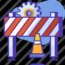 cone, construction, gear, seo, startup, under construction, warning