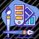art, brush, color, pen, seo, startup, tools