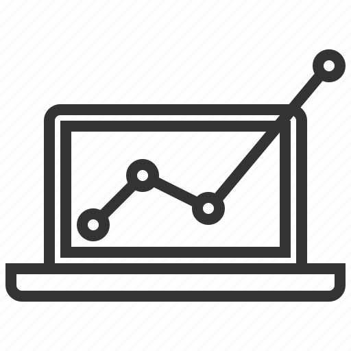 analytics, business, computer, financial, graph, profits, statistics icon