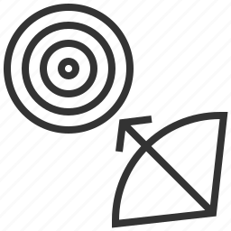 aim, arrow, dart, direction, goal, navigation, target icon