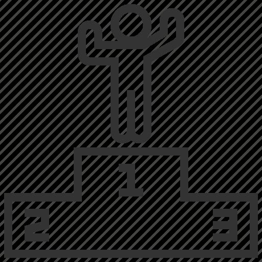 business, finance, leadership, user, winner icon