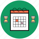 calendar, date, schedule, startup, time, week icon