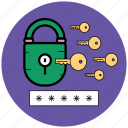 key, login, look, protect, security, startup icon