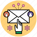 contact, email, mail, message, send, startup icon