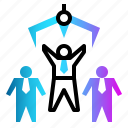 employee, human, job, manager, resource icon