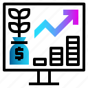finance, financial, growth, money, profit icon
