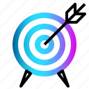 arrow, center, goal, success, target icon