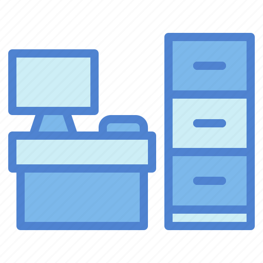 business, desk, material, office icon