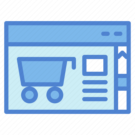 broswer, online, page, shop, shopping, web, website icon