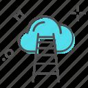 cloud traffic, computing cloud, data highway, internet traffic, storage cloud icon