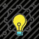bulb, creative, creative mind, idea, illumination icon