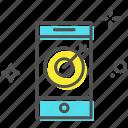 dartboard, digital marketing, mobile, mobile marketing, objective icon