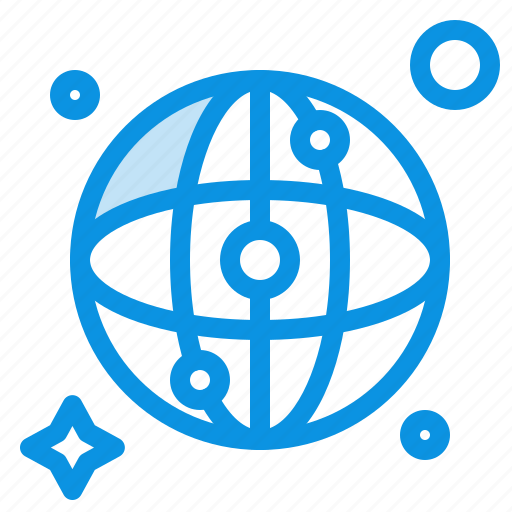 map, network, world icon