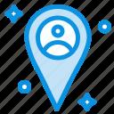 location, man, map
