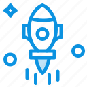 astronomy, fly, rocket, space icon