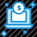dollar, laptop, money