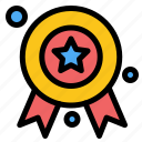 award, badge, ribbon icon