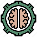 brain, capacity, gears, plan, possibility, potential, users icon