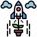 launch, rocket, seo, ship, space, startup, transport icon