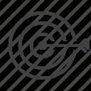 darts, goal, target icon